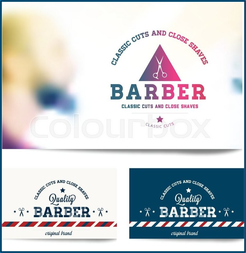 Barber Shop Business Cards Templates Free