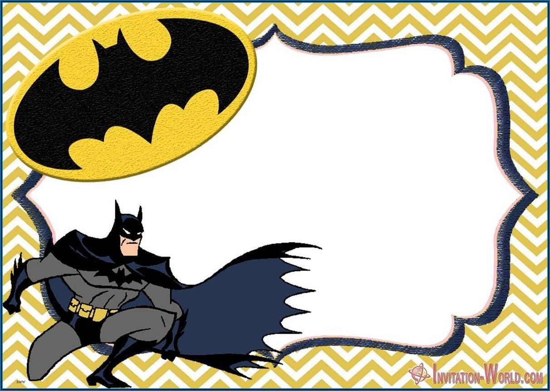 Batman Invitations Templates Free