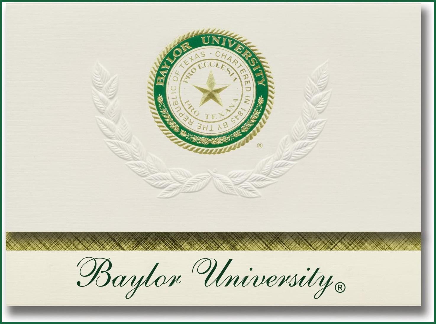 Baylor University Graduation Announcements