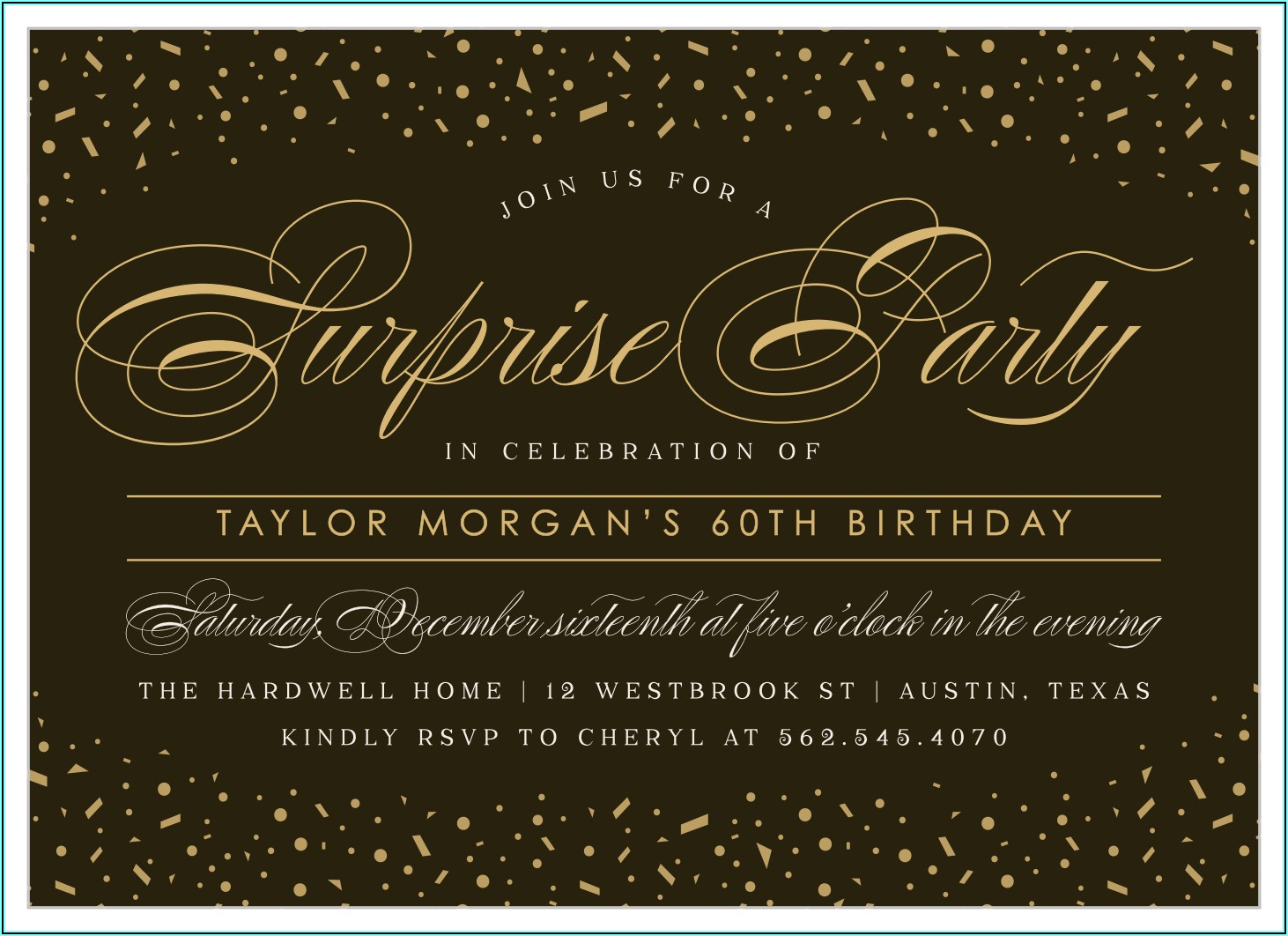 Birthday Invitation Card Design For Adults