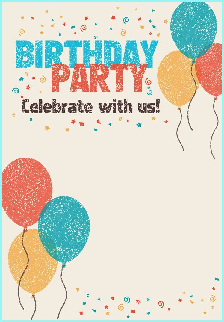 Birthday Invitation Card For Adults