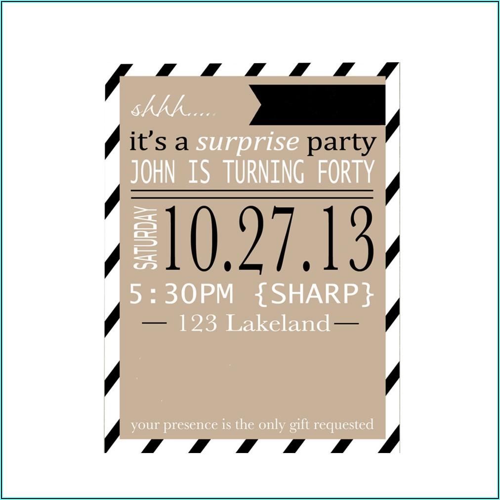 Birthday Party Invitation Card Sample