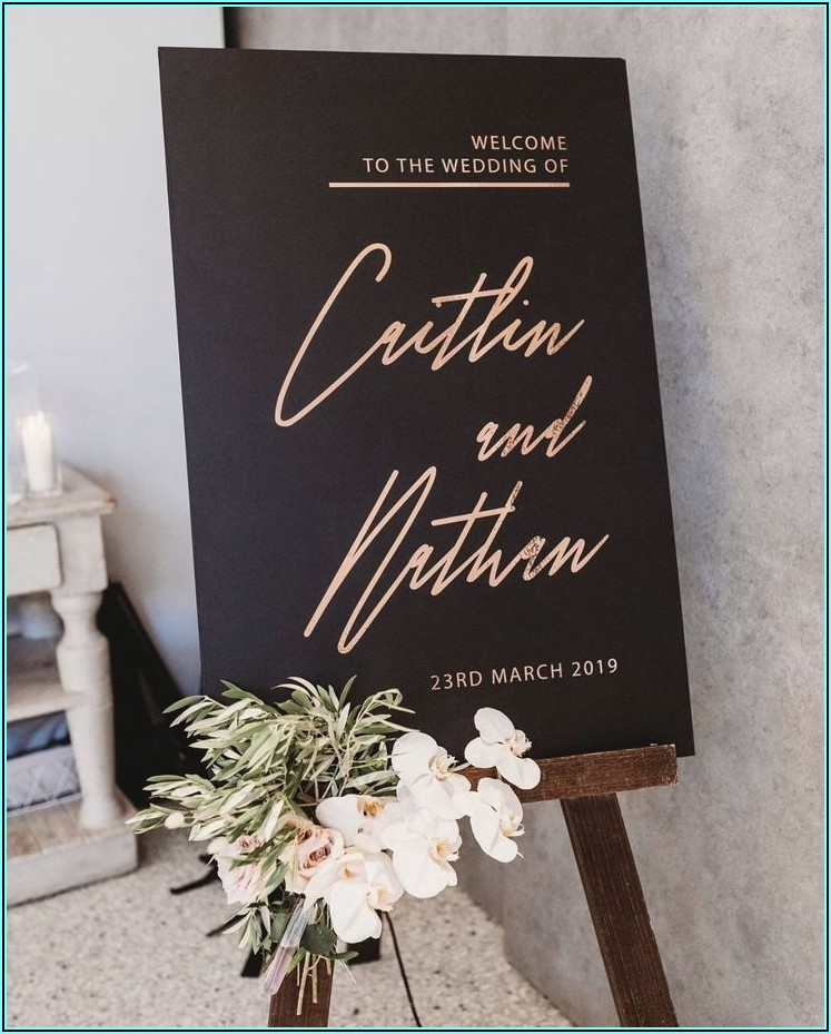 Black And Rose Gold Engagement Invitations