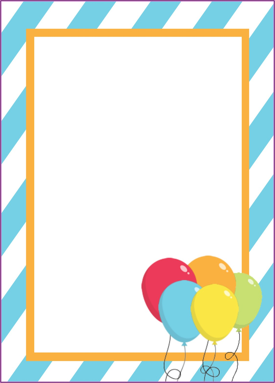Blank 1st Birthday Invitations Boy Templates Free