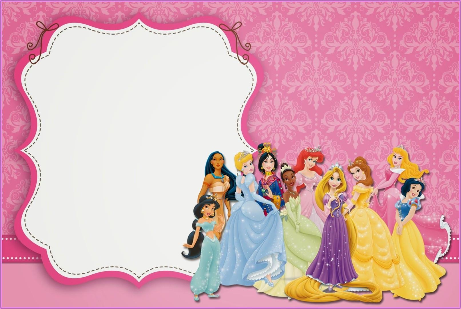 Blank Disney Princess Invitations