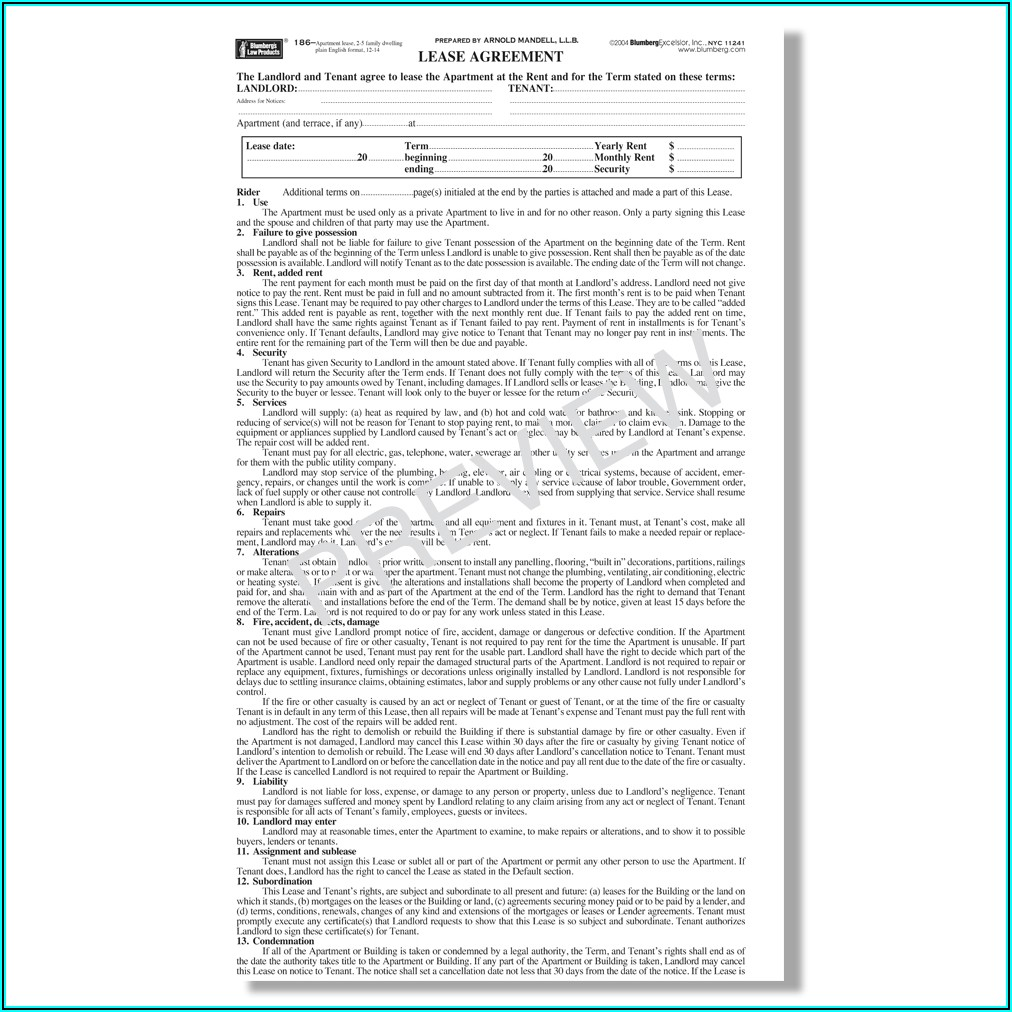 Blumberg Lease Forms