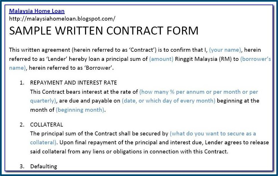 Borrowing Money From Family Contract Template