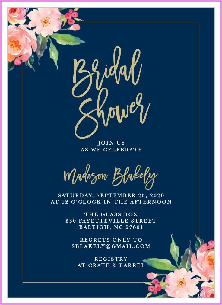 Bridal Luncheon Invitations Sample