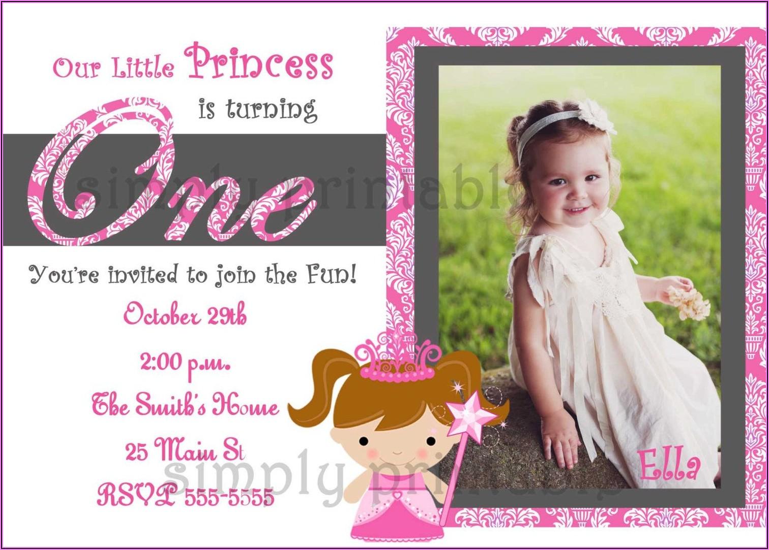 Cheap First Birthday Invitations Girl