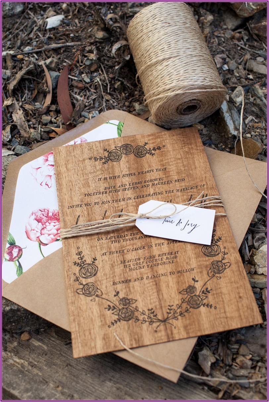 Cheap Rustic Wedding Invitations Australia