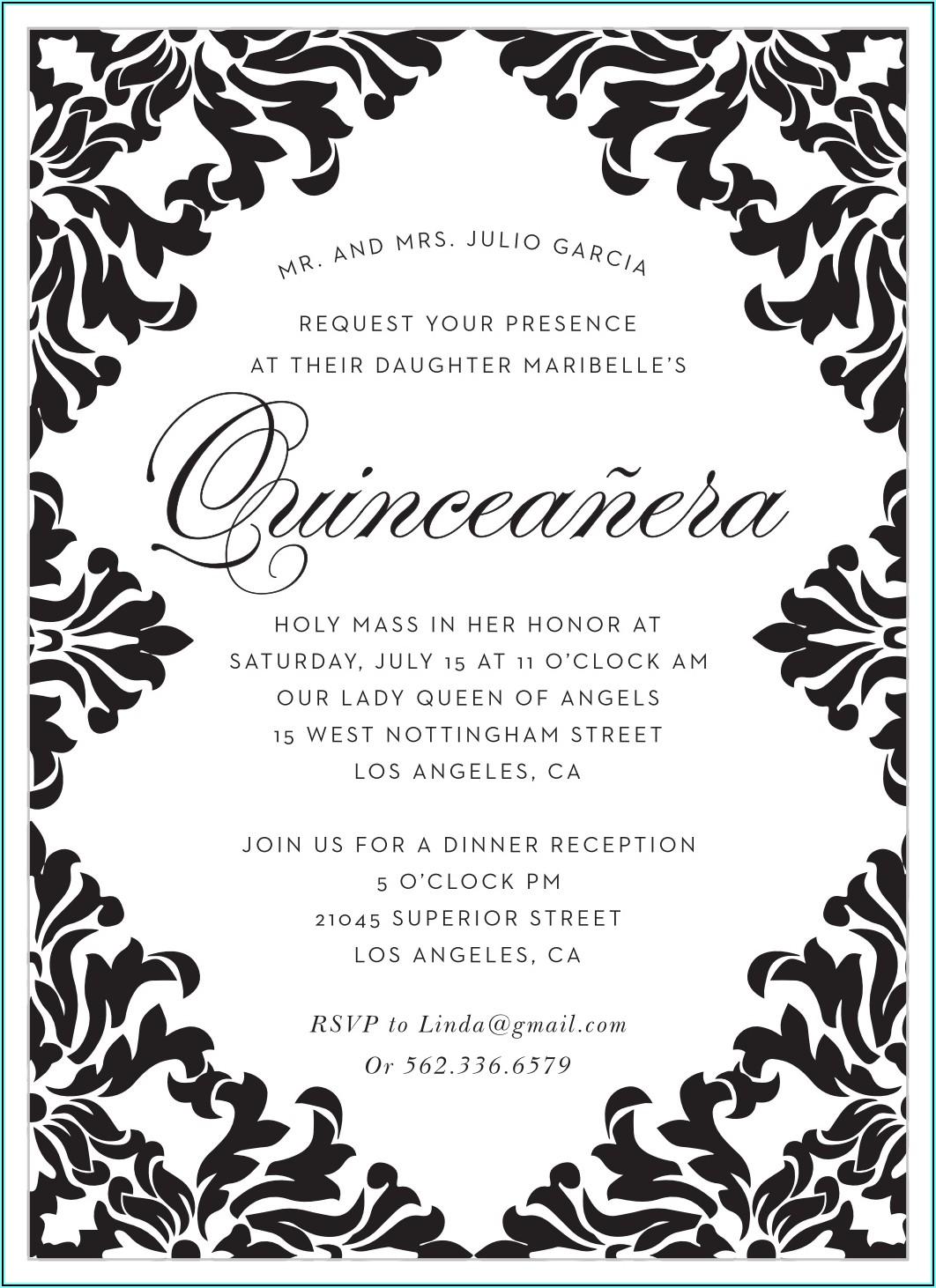 Christian Quinceanera Invitation Wording