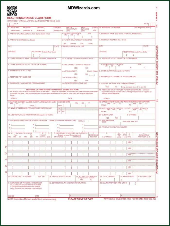 Cms 1500 Form Fillable Software For Mac