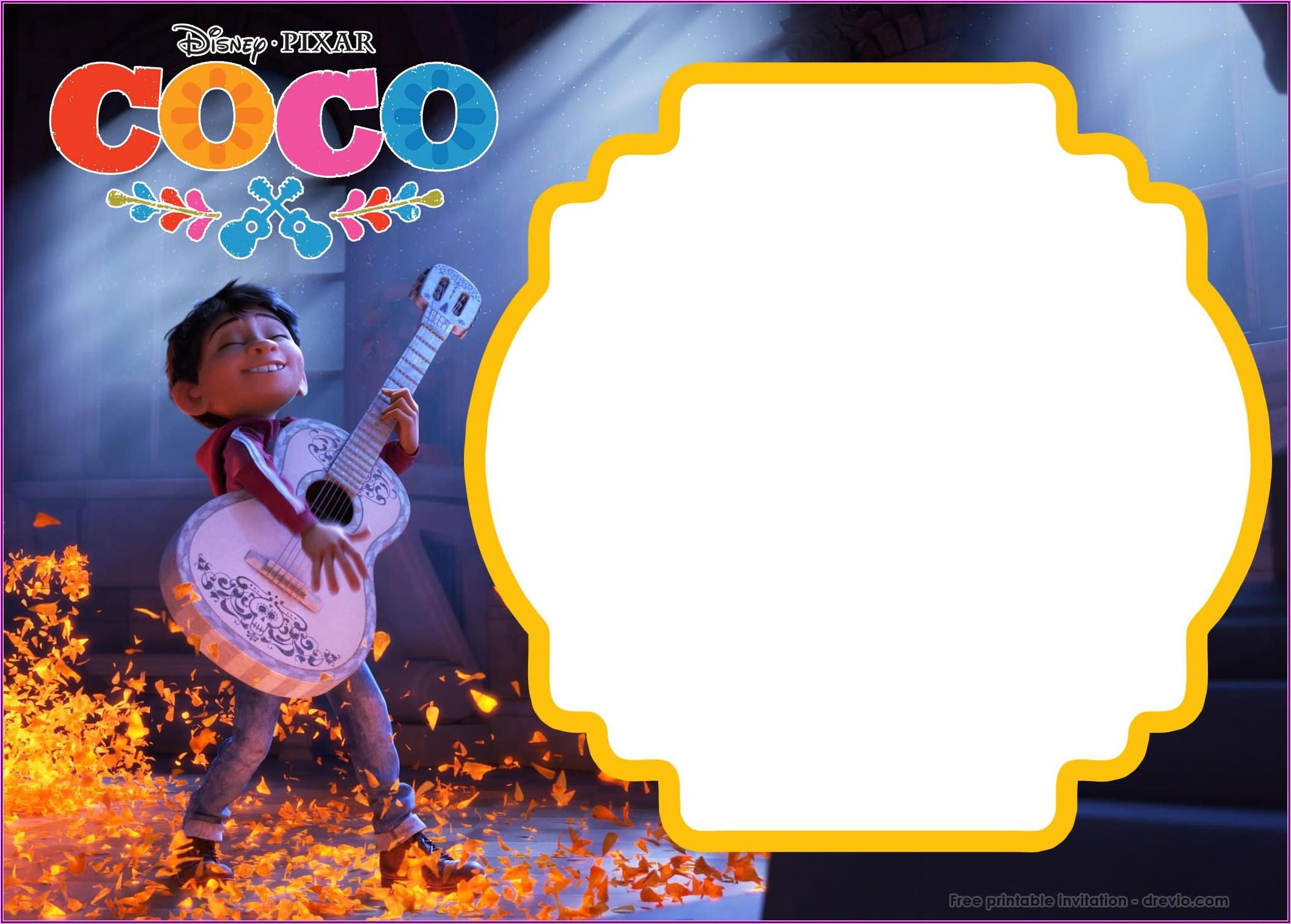 Coco Birthday Invitations Free
