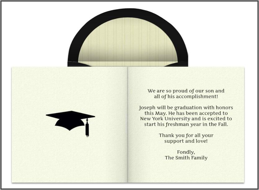 College Graduation Announcement Wording From Parents