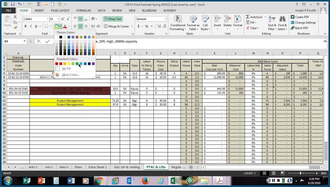 Contractor Schedule Of Values Template