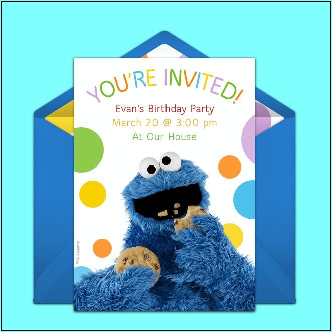 Cookie Monster Birthday Invitation Template