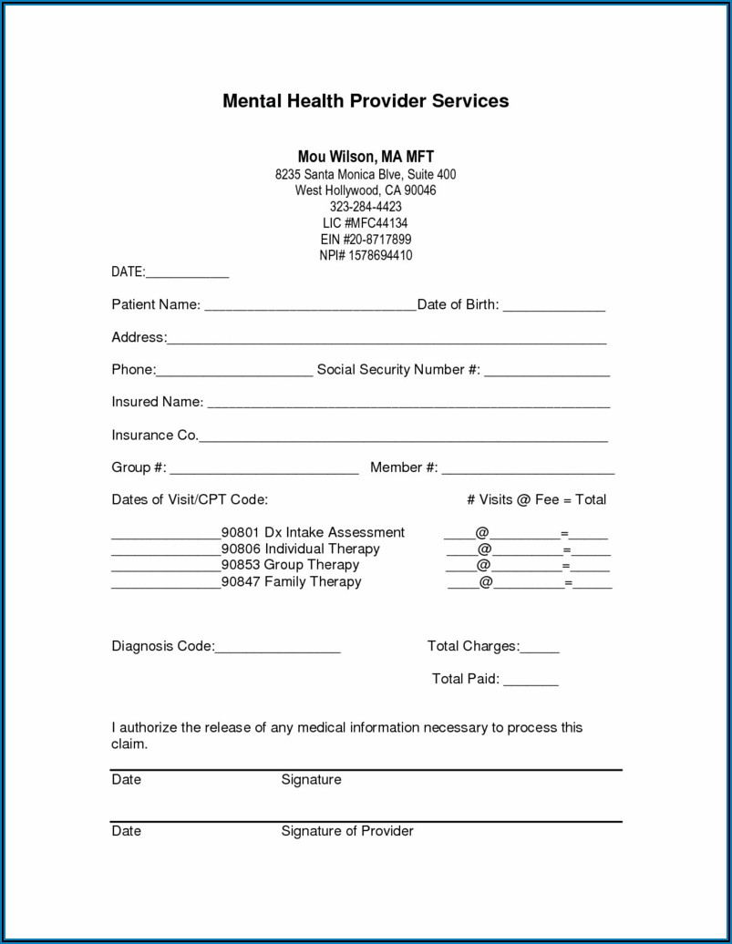 Counseling Soap Note Template