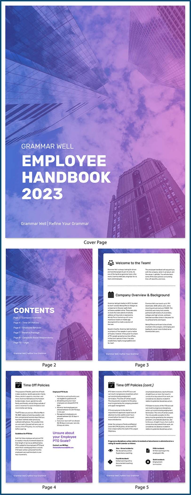 Creative Employee Handbook Templates