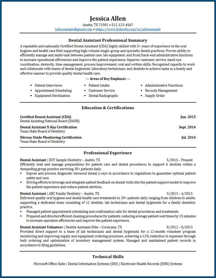 Dental Assistant Job Description Sample