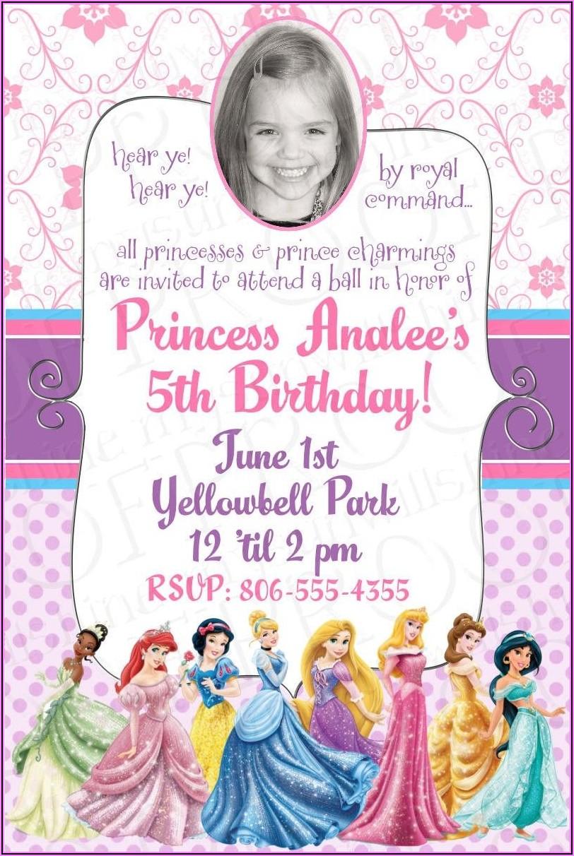 Disney Princess Birthday Invitations