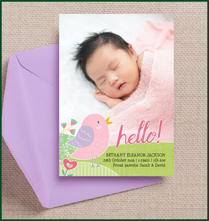 Double Sided Baby Announcements
