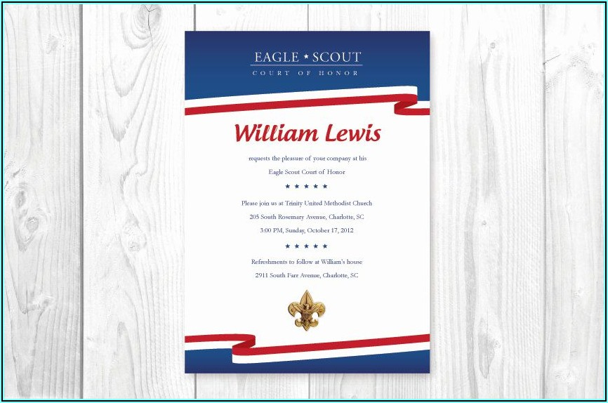 Eagle Scout Court Of Honor Invitations Free Template