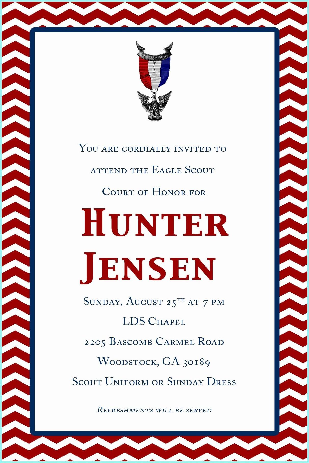 Eagle Scout Invitation Free Template