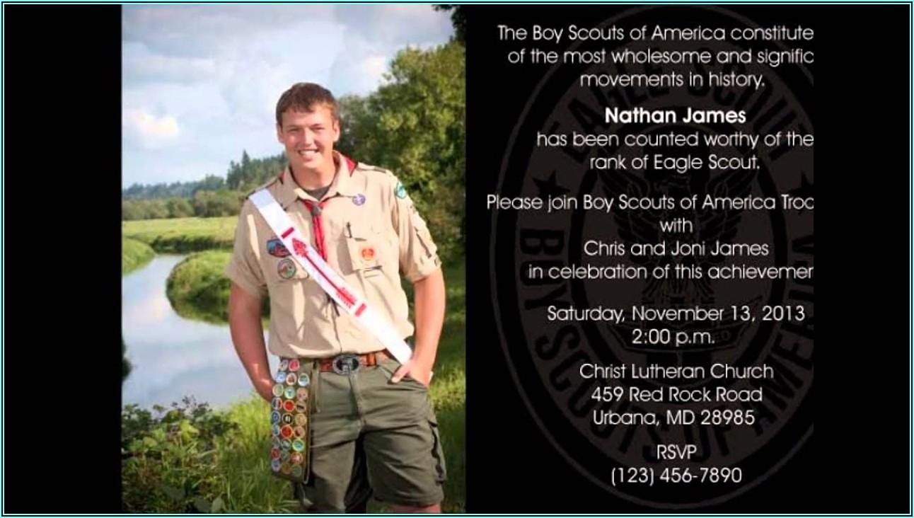 Eagle Scout Invitations Template