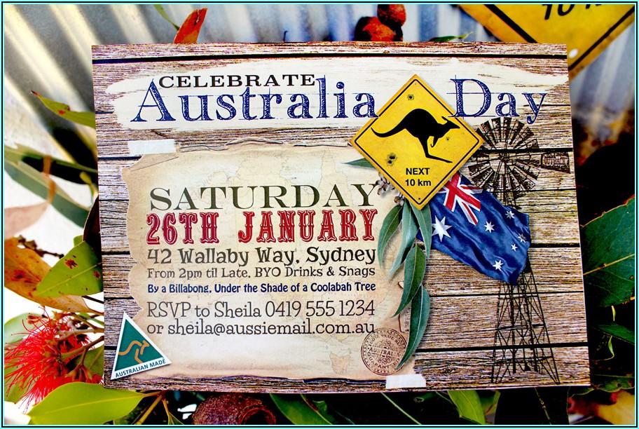 Editable Birthday Invitations Templates Free Australia