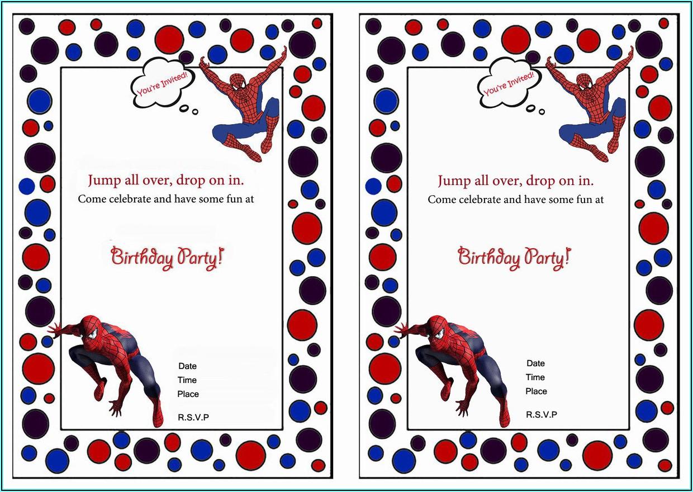 Editable Birthday Invitations Templates Free Spiderman