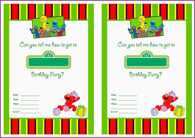 Elmo 1st Birthday Invitations Printable Free