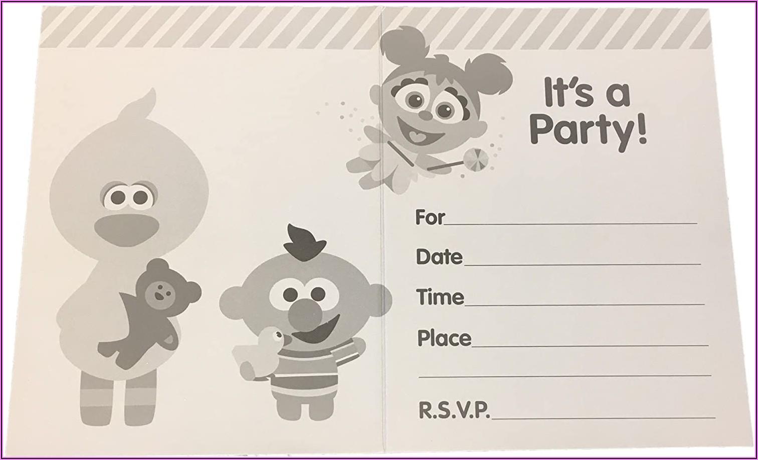 Elmo 1st Birthday Party Invitations