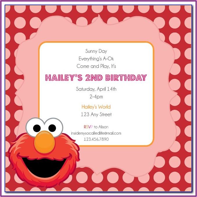 Elmo 2nd Birthday Invitation Template