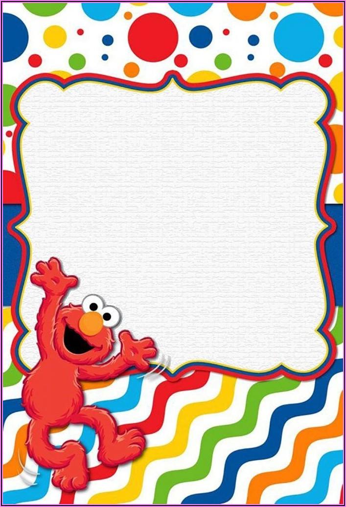 Elmo Birthday Invitations Free Template