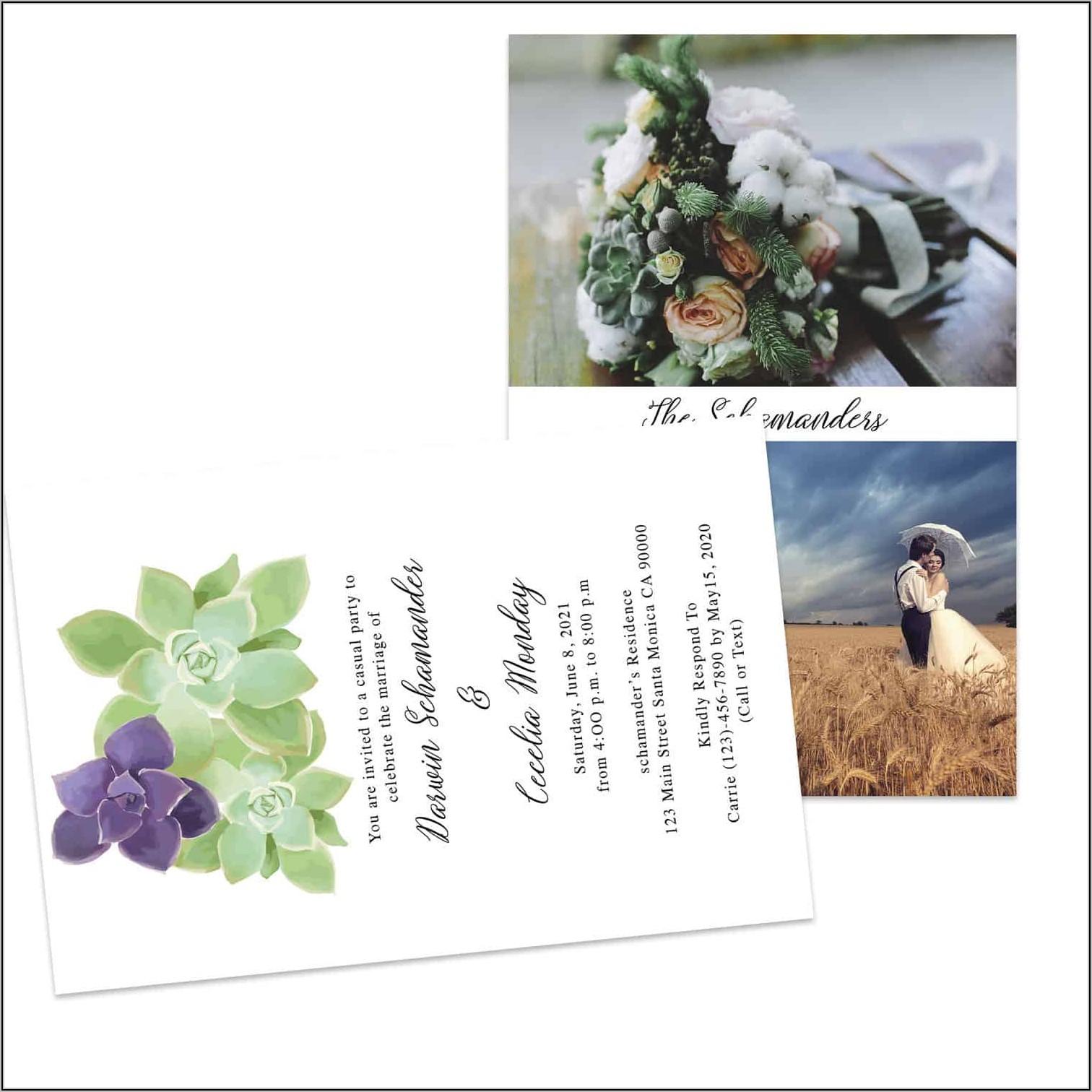 Elopement Announcement And Reception Invitation