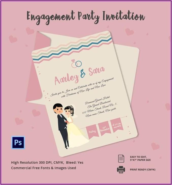 Engagement Invitation Templates Online Free