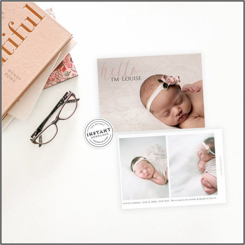 Etsy Baby Girl Announcement