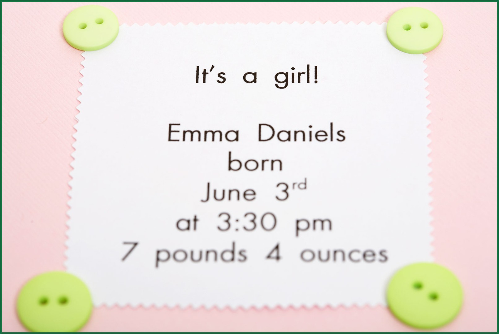 Expecting Baby Girl Announcement Wording
