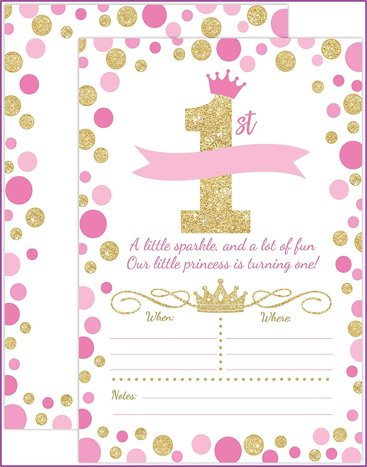 First Birthday Party Invitations Girl