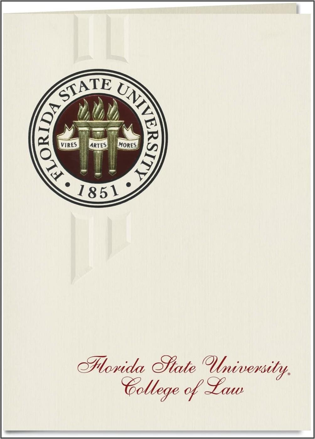 Florida State University Graduation Announcements