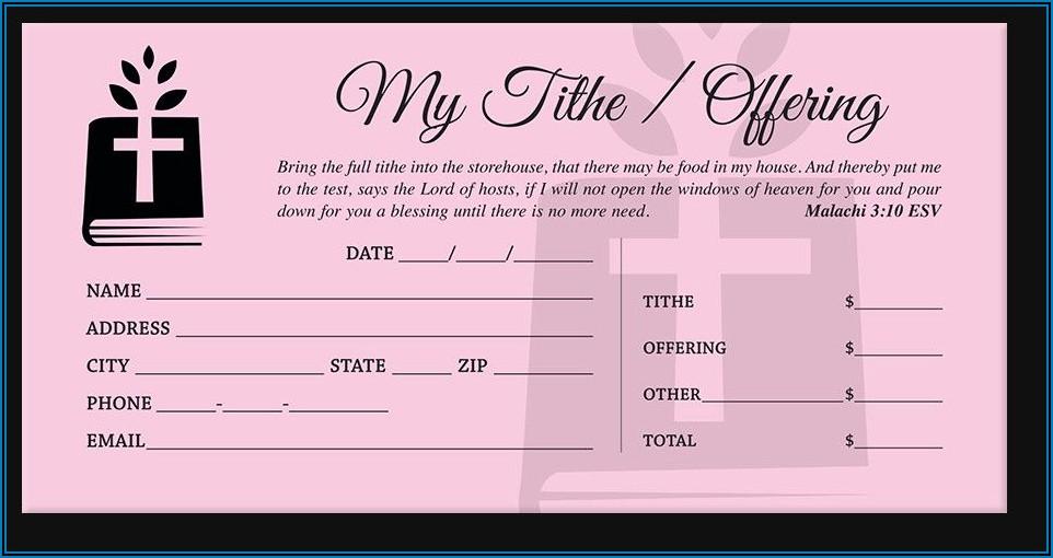 Free Church Tithe Envelope Template