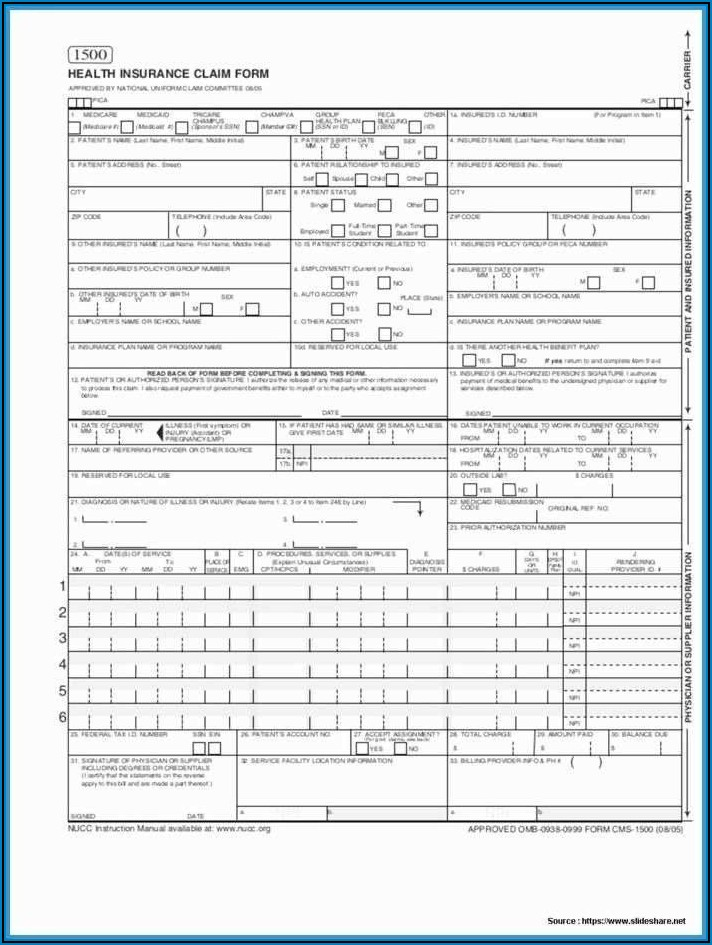Free Insurance Claim Form Template