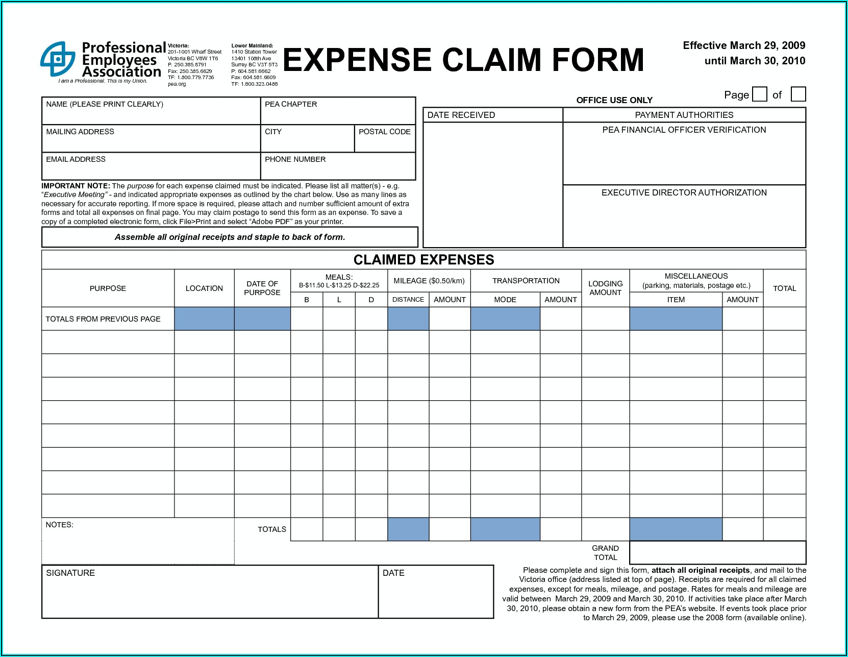 Free Job Application Forms To Print