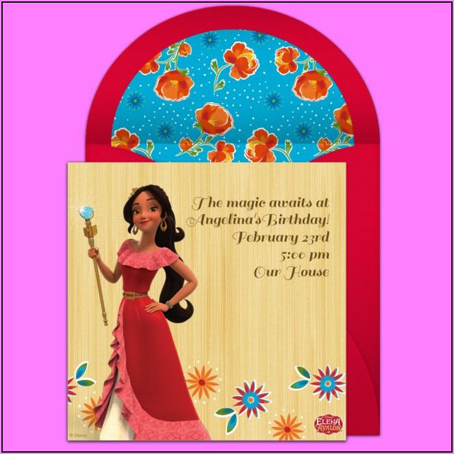 Free Online Disney Princess Invitations