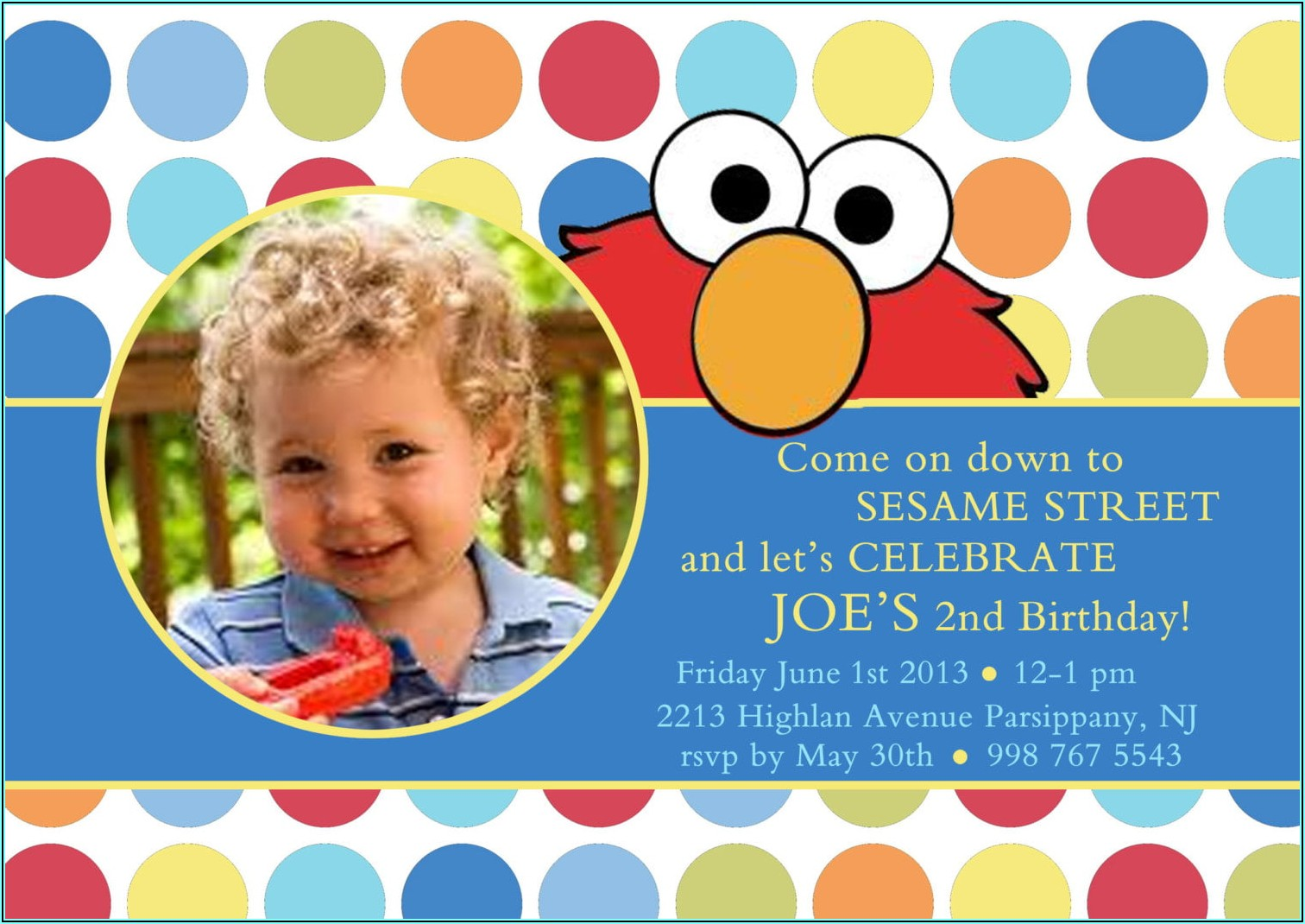 Free Printable Elmo Birthday Invitations Template