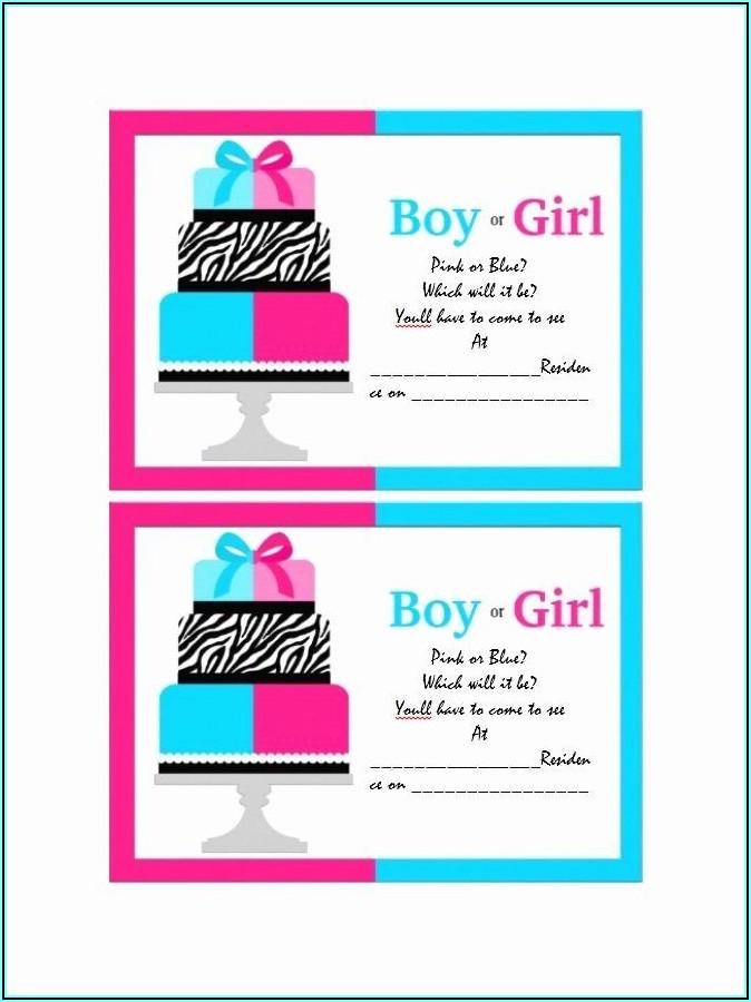 Free Printable Gender Reveal Invitations
