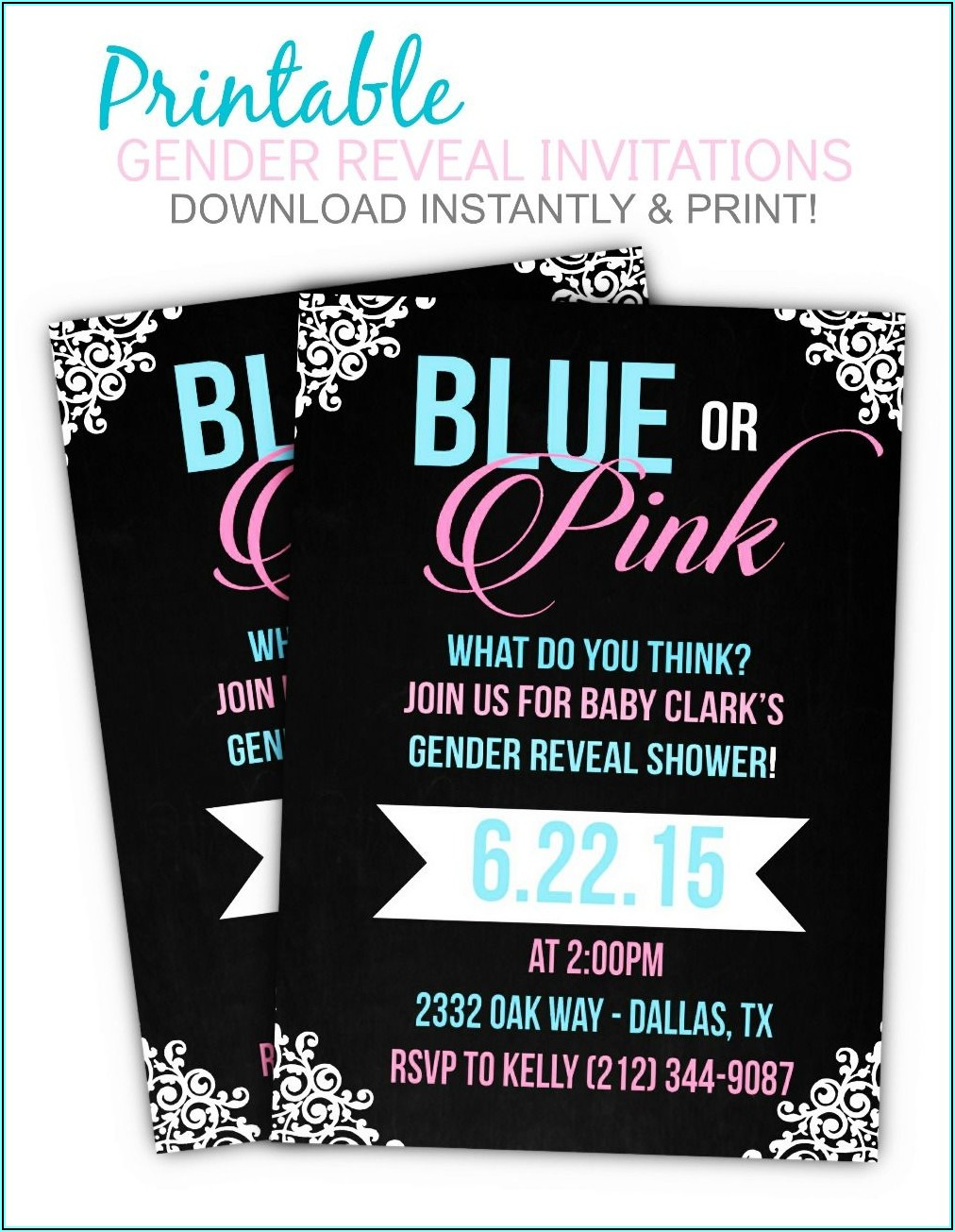 Free Printable Invitations For Gender Reveal Party