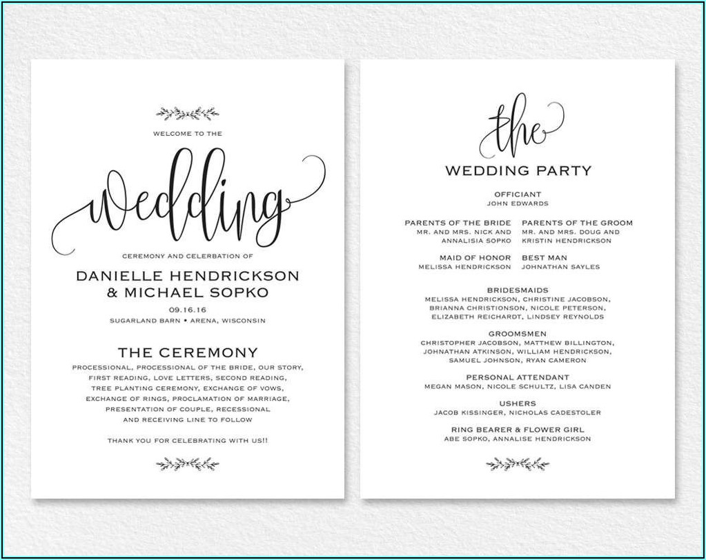 Free Printable Wedding Invitations Templates For Word