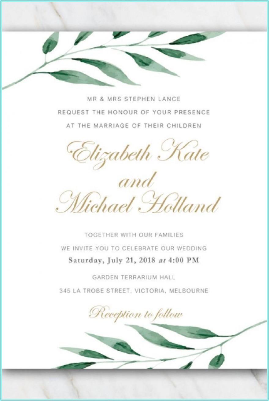 Free Wedding Invitation Templates For Word 2010