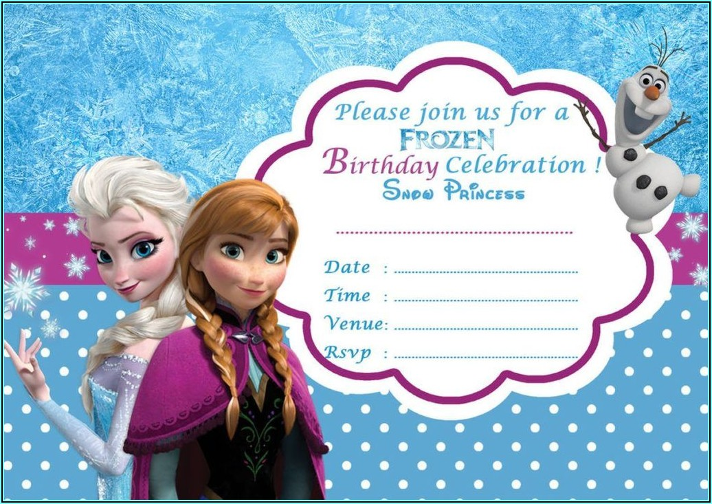 Frozen 2 Birthday Invitations Online